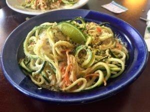kelp and zucchini pad thai