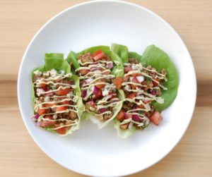 walnut ground meat lettuce wraps